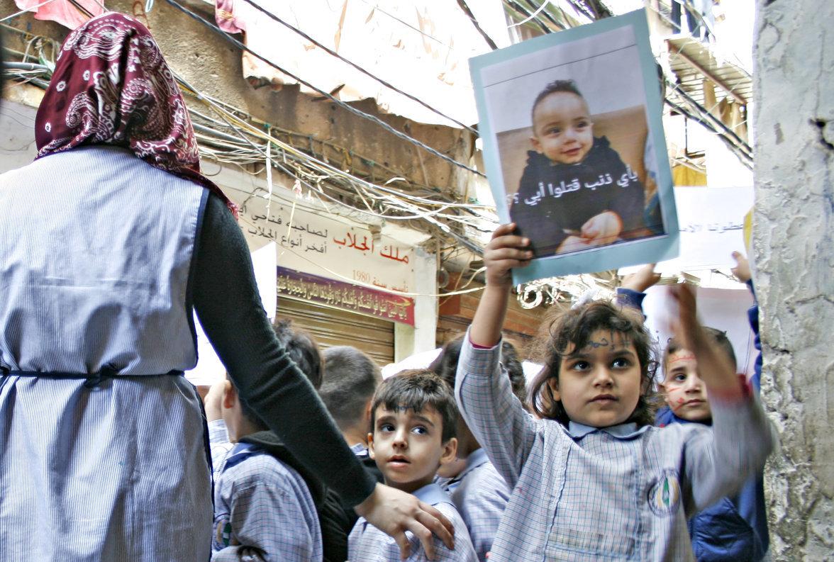 Shatila flyktningleir Libanon