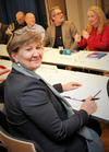 Mette Nord, Fagforbundet og Anniken Hauglie, arbeids- og sosialminister.