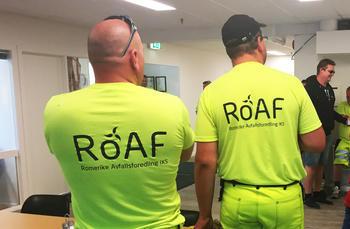 Romerike Avfallsforedling  ROAF: Fagforbundet Skedsmo i møte med renovatører på Lindeberg.